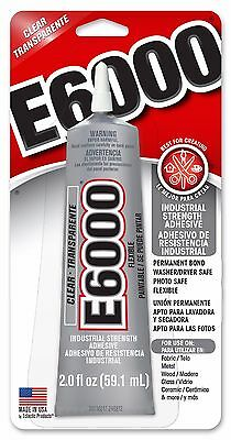 2oz - 59ml e6000 & Tip Industrial Glue Resins Metals Crystals Dolls USA Made
