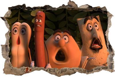 Sausage Party Movie Smashed Decal Graphic Wall Sticker Art Mural H682