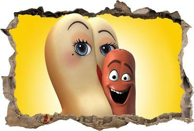 Sausage Party Movie Smashed Decal Graphic Wall Sticker Art Mural H681