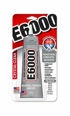 e6000  MultiPurpose Industrial Strength Adhesive with Metal Tip  USA Made  2oz