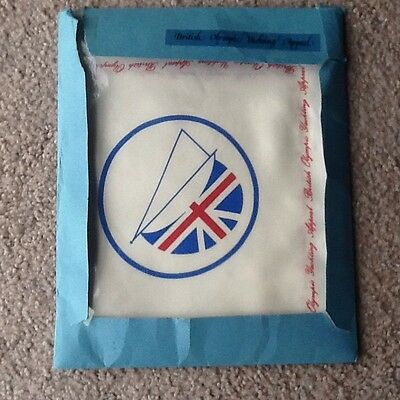 British Olympic Yachting Appeal - Vintage Silk Table Cloth 73cm Square