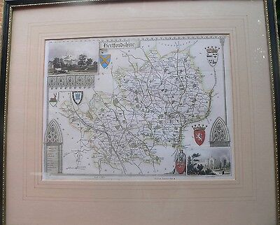 """""""Hertfordshire"""" antique map by Thomas Moule"""