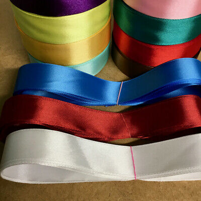 "5 yds 1"" 25mm Satin Ribbon gift scrapbook sewing craft single sided sewing #320"