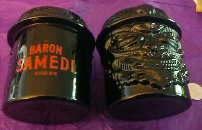 New Set Of Two Baron Samedi Spiced Rum Drink Party Mugs.