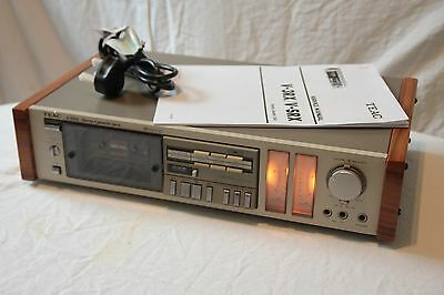 TEAC V-5RX vintage cassette deck DBX SERVICED NEW BELTS custom wooden sides