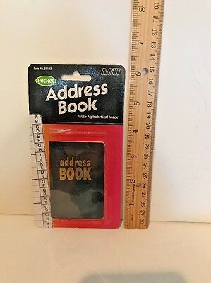 A & W Pocket Address Book W/ Index NEW