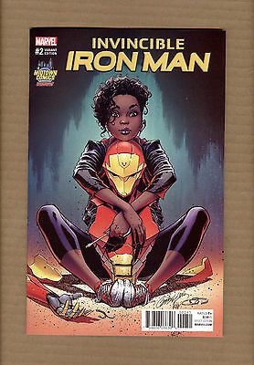 Invincible Iron Man #2 J Scott Campbell Midtown Comics Riri Willams Variant Nm+