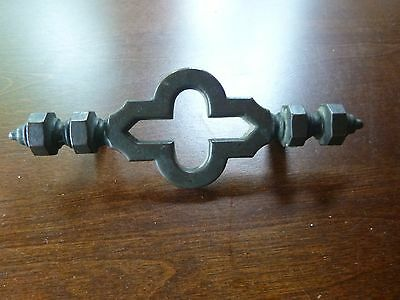 Vintage Ornate Gothic Solid Brass Drawer Pull Furniture Hardware Very Unique