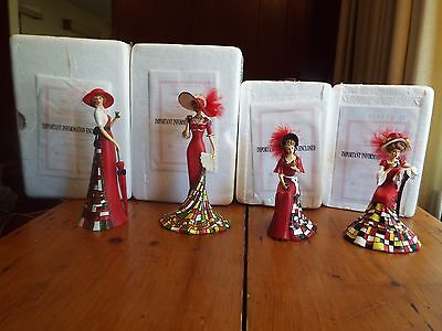 4 Hamilton Collection Timeless Refreshment Coke Figurines W/ Box And Certificate