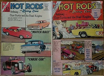 Lot of 2 Hot Rods & Racing Cars Charlton Comics (#56 Mar 1962) (#66 Nov 1963)
