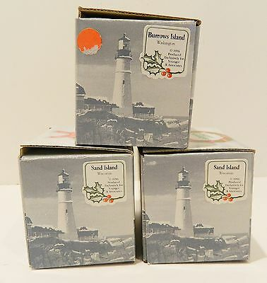 Harbour Lights , Lighthouse Ornament  Set Of 3 ,   Closeout - Sale ,   Nib