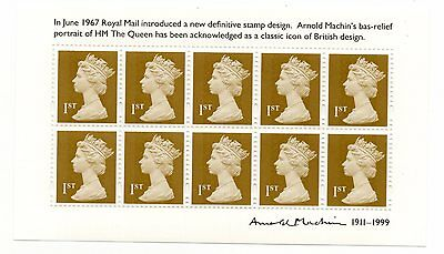 GB 2011 Arnold Machin Souvenir unmounted mint mini / miniature sheet MNH stamps