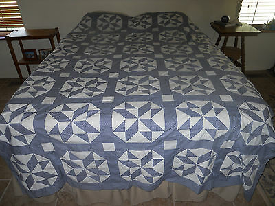 Early Blue and white Quilt top