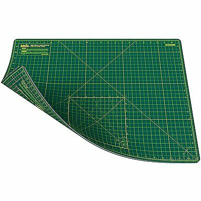 ANSIO A2 Double Sided Self Healing 5 Layer Cutting Mat Metric/Imperial 45cmx60cm