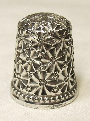 Antique Ketcham & McDougall Sterling Silver Thimble Full Palmette w/ Rosetts