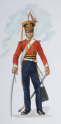 Original Military Watercolour Painting - Officer 13Th Light Dragoons - 1832