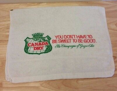 Canada Dry Ginger Ale Vintage Bar Towel Terry Cloth
