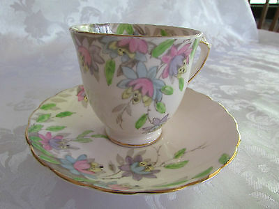 Tuscan Duo Pink Made in England- vintage delicate pink bone china