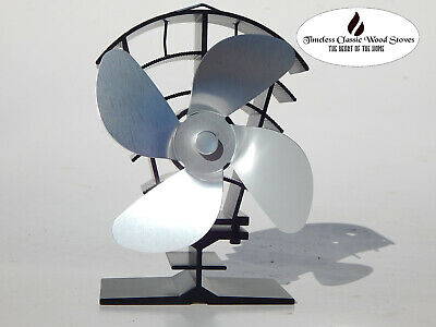 BREEZZA  Heat powered stove fireplace wood fired heater combustion  Eco fan
