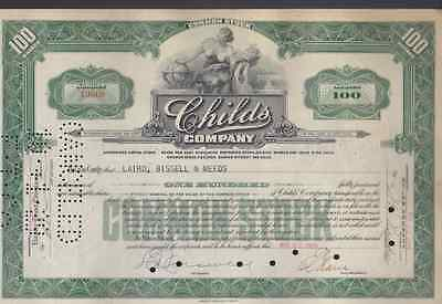 Childs Company  * Stock Certificate *