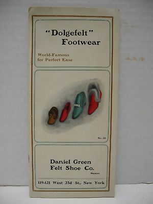 "Antique ""Dolgefelt"" Footwear Daniel Green Felt Shoe Co. Catalog and Price Sheet"