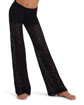 New Capezio T10539C Black Stretch Lace Pants with inside Shorts Girls S-M-L