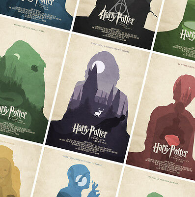 HARRY POTTER POSTERS - A3 A4 size Quality Movie Print Decor quotes vintage style
