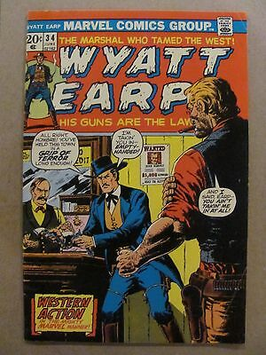 Wyatt Earp #34 Marvel Comics 1972
