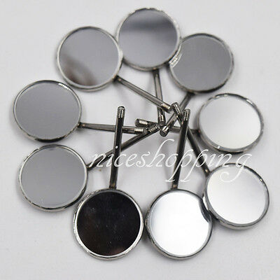 100 Pcs Dental Orthodontic Stainless Steel Mouth Mirrors Reflector High Quality