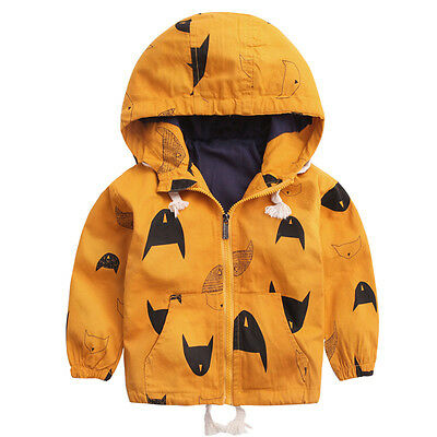 Spring Fashion Kids Outerwear Coats Boys Autumn Clothes Children Hooded Jackets