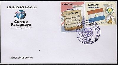 Upaep Paraguay 3041/42 2010 Anthem Nacional Flag SPD FDC About First Day