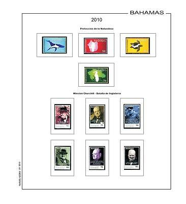 stamp pages Filkasol Unmounted Bahamas Supplement 2006