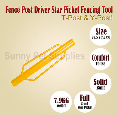 Y-Posts Driver Post Rammer Driver Fence star picket hand picket Fencing Tools BN