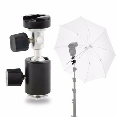 C Type 360 Swivel Flash Shoe Umbrella Holder Light Stand Tripod Bracket Adapter