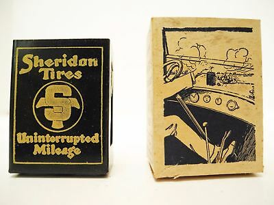 1920's / 1930's NOS SHERIDON TIRES Mayer's Windshield Match Box Holder with Box