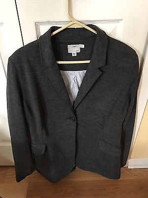 Pea In The Pod Maternity Gray Jacket Blazer EUC Size L Professional Work