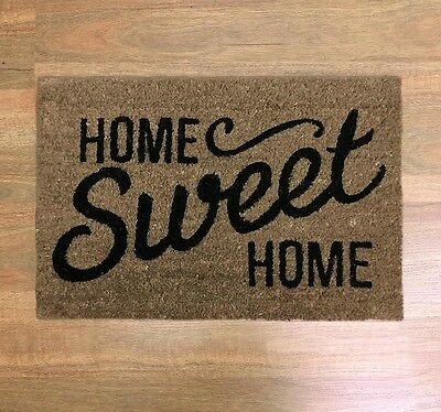 DOORMAT Home Sweet Home 60 cm Long Coir Door Mat Rubber Backing NEW