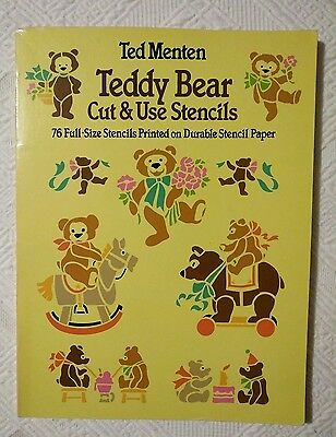'Teddy Bear Cut & Use Stencils' Ted Menten 1983- for Furniture or Crafts