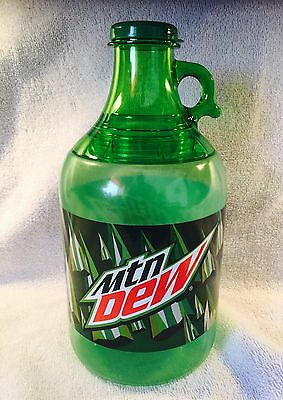Mountain Dew Promo Moonshine Bottle Refillable Green Crock Style Hard Plastic
