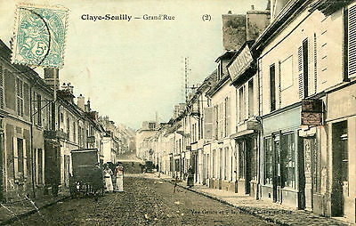 Carte CLAYE SOUILLY Grand'Rue Les bouchers