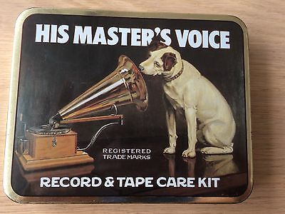 Vintage 1950s-60s HMV Record Tape Care Kit.Full Picture Tin.