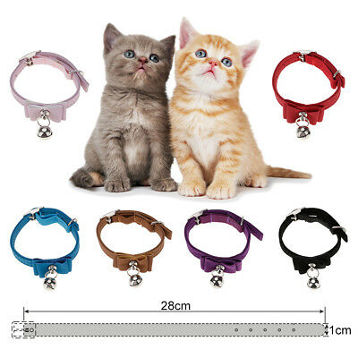 PET Durable PU Quick-Release Puppy Cat Dog Cute Lovely Bow Collar With Bell