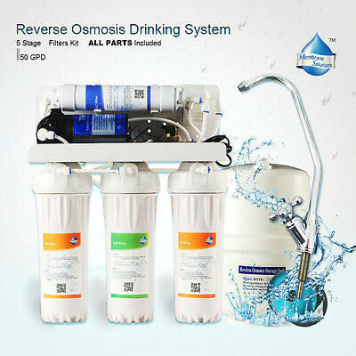 5 Stage Undersink Water Filter System Reverse Osmosis Filtration Filters System