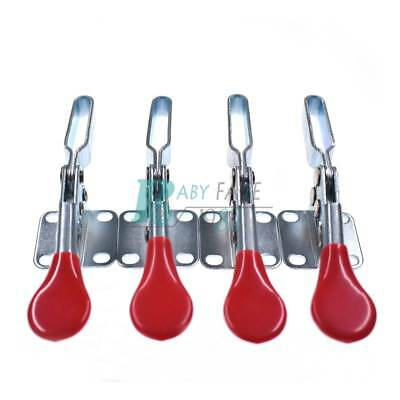 201B Horizontal Quick Release Toggle Clamps Tool For 90Kg 198Lbs With Red Handle