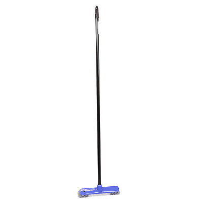 Flooor scrubber broom with a metal stick for outdoor and indoor use