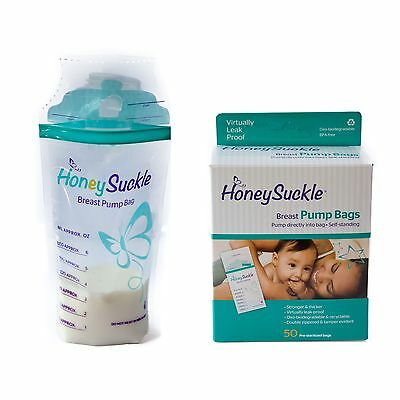 Bulk HoneySuckle Breast Pump Bags + d'Adapter bundle 550 bags bpa free