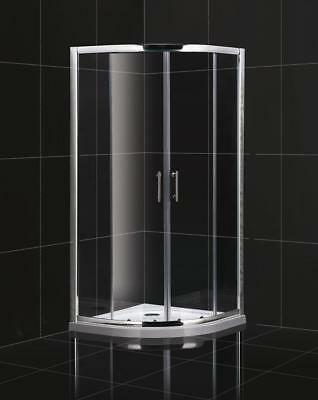 1750mm High Corner Entry Quadrant Shower Enclosure Reduced Low Height Caravan