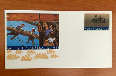 Tall Ships 37c Australian Pre Stamped Envelope Mint