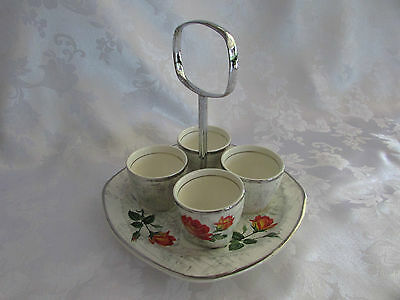 Midwinter Stylecraft Egg cups x 4 with underplate Retro 1960 Staffordshire