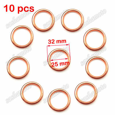 10x ID 25mm OD 32mm Exhaust Pipe Gasket For Pit Dirt Motor Bike ATV Quad Scooter